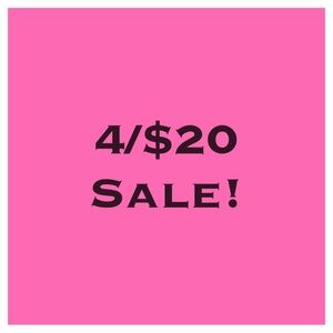 4 Items 🛍 for $20 Sale!